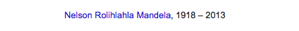 Google's Tribute to Mandela